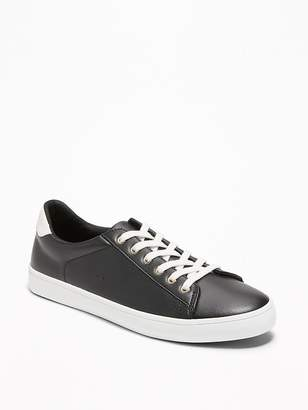 Old Navy Faux-Leather Classic Sneakers for Women