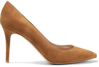 Gianvito Rossi 85 Suede Pumps - Tan