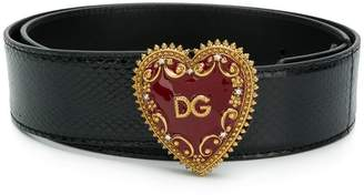 Dolce & Gabbana My Heart logo buckle belt