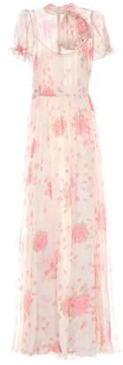 Valentino Floral-printed silk-chiffon gown