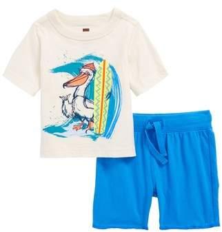 Tea Collection Surfing Pelican T-Shirt & Knit Shorts Set