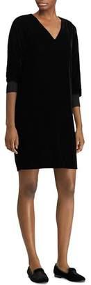 Ralph Lauren Velvet V-Neck Dress