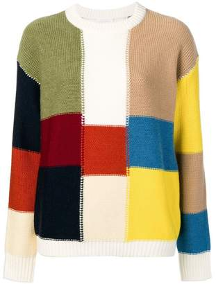 See by Chloe patchwork-style sweater