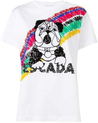 Escada Sport dog embellished T-shirt