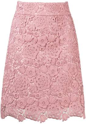 Blumarine high waist lace skirt