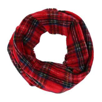 David & Young Women's Boucle Woven Plaid Infinity Loop Scarf