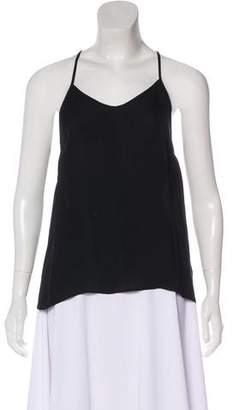 Rebecca Minkoff Silk V-Neck Sleeveless Top