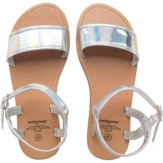 Board Angels Girls Metallic Sandals Silver
