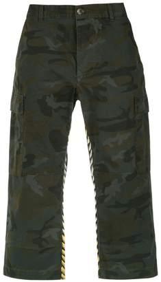 À La Garçonne printed unisex cargo trousers