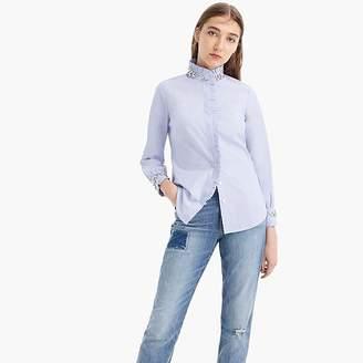 J.Crew Petite slim perfect shirt with embellishment