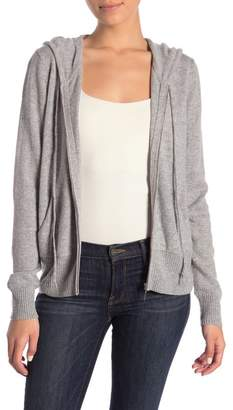 Magaschoni M BY Cashmere Zip Front Hoodie (Petite)