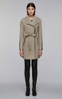 Mackage ESTELA belted trench coat with inner bib