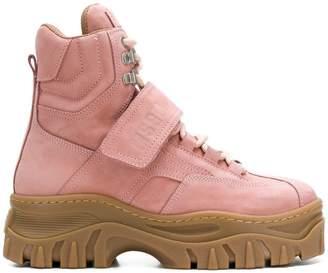 MSGM ridged sole boots