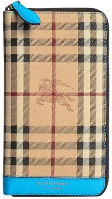 Burberry Haymarket Check ziparound wallet