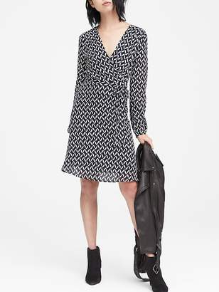 Banana Republic Print Wrap Dress