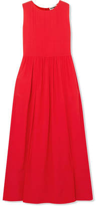 Jil Sander Silk-crepe Maxi Dress - Red