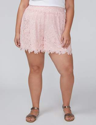 Lane Bryant Floral Lace Short