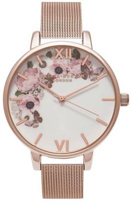 Women's Olivia Burton Winter Garden Mesh Bracelet Watch, 38Mm $150 thestylecure.com