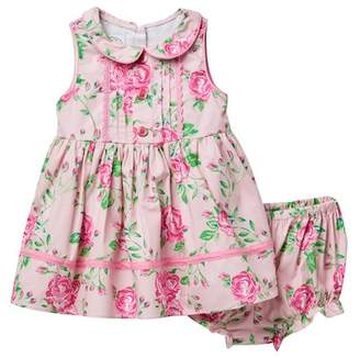 Laura Ashley Pink Floral Dress (Baby Girls 0-9M)