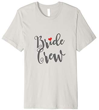 Bride Crew Bachelorette Party Wedding With Red Heart T Shirt