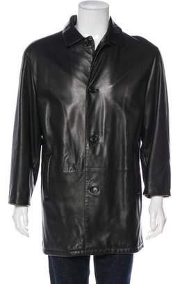 Loewe Leather Three-Quarter Coat