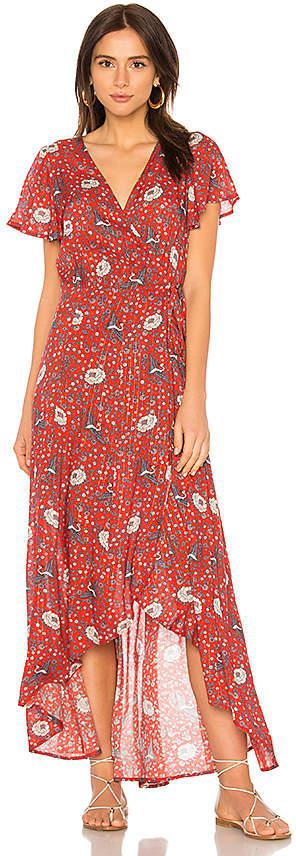 AUGUSTE Valentina Fiesta Wrap Maxi Dress