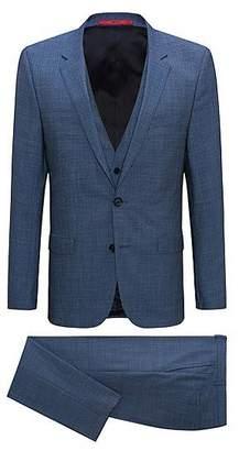 HUGO BOSS Extra-slim-fit three-piece suit in tropical virgin wool