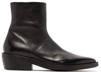 Marsèll Coneros Cuban Heel Ankle Boots - Mens - Black