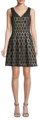 Vince Camuto Printed Fit-&-Flare Dress