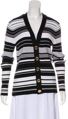 MICHAEL Michael Kors Striped Button-Up Cardigan