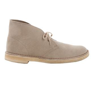 Clarks Beige Leather Boots