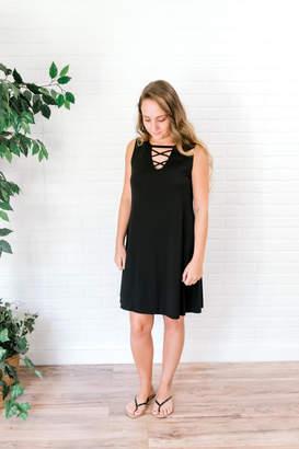 Izzie's Boutique Black Sleeveless Dress