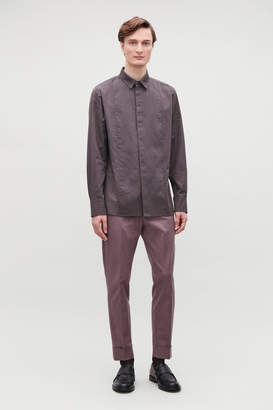 COTTON SHIRT WITH SEAM DETAILING