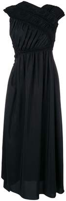 Jil Sander wrap evening dress