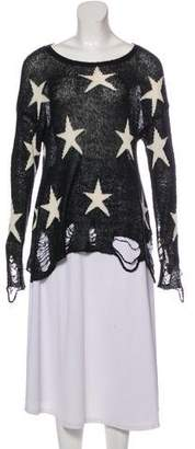 Wildfox Couture Printed Knit Sweater