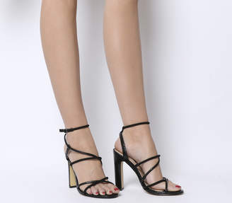 Office Heaven Tubular Sandal Block Heels