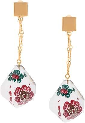 Marni suspended flower drop earrings