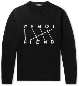Fendi Logo-Jacquard Cotton Sweater