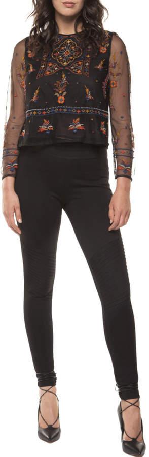 Black Tape Pintuck Leggings