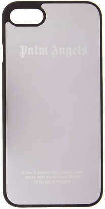 Palm Angels Silver Metallic Logo iPhone 7 Case