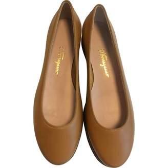 Salvatore Ferragamo Yellow Leather Flats