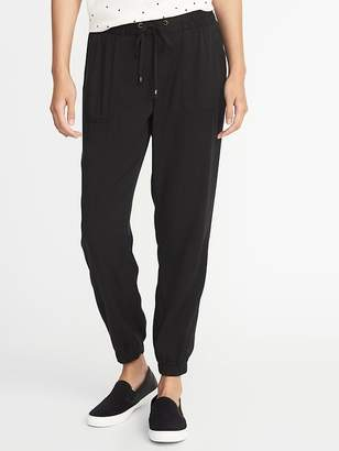 Old Navy Mid-Rise Soft Twill Utility Joggers for Women