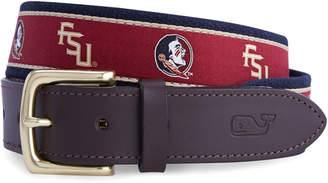 Vineyard Vines Florida State University Canvas Club Belt