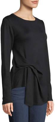 Nicole Miller New York Boat-Neck Side-Knot Sweater