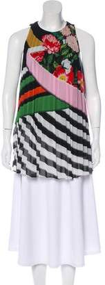 Mary Katrantzou Pleated Sleeveless Top
