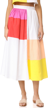 Mara Hoffman Patchwork Midi Skirt $295 thestylecure.com