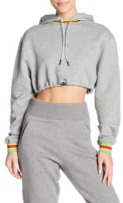 Opening Ceremony Ringer Cropped Hoodie