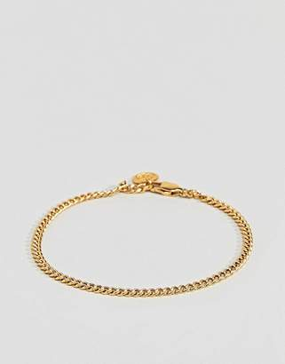 Mister curb chain bracelet in gold