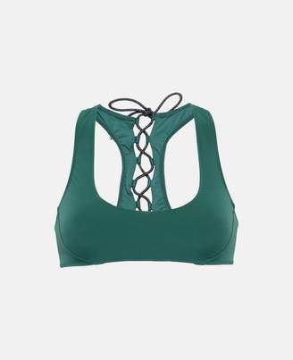 Stella McCartney botanical green bikini top