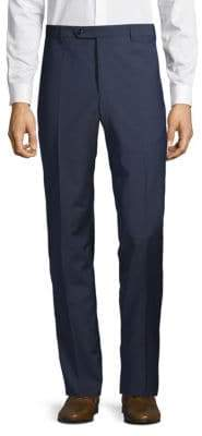 Zanella Graph Box Checkered Wool Dress Pants